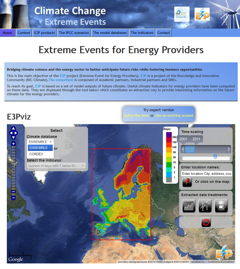 Nouvel outil interactif de visualisation sur les extrêmes climatiques