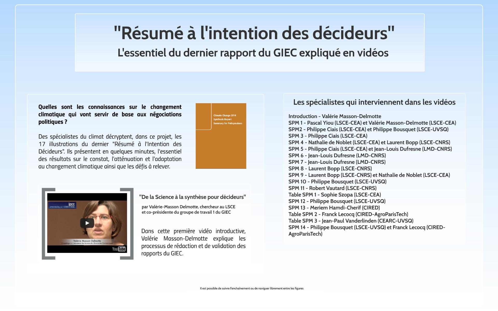 Les principales figures du GIEC commentées par les chercheurs (Vidéo)