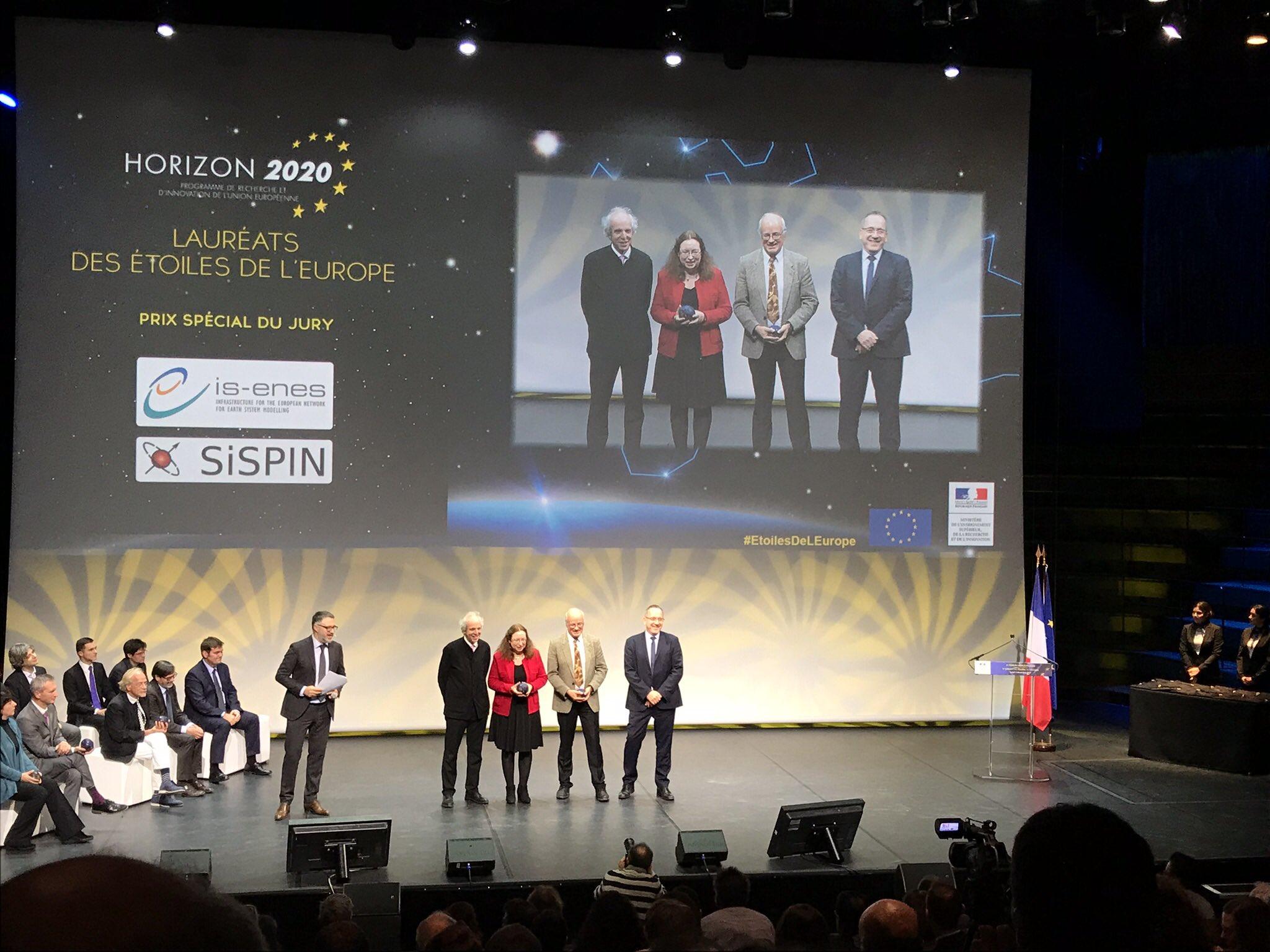 Prix des étoiles de l'Europe: projet IS-ENES2, Sylvie Joussaume, coordinatrice scientifique