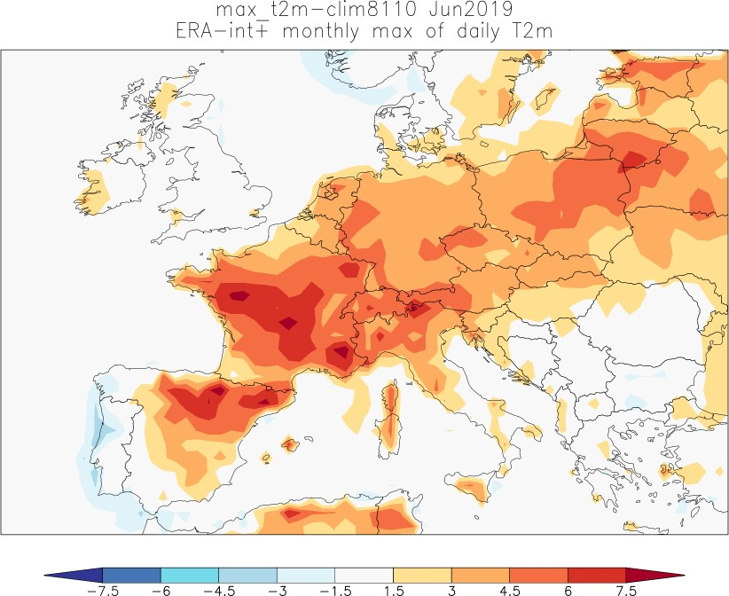 Human contribution to record-breaking June 2019 heatwave in France