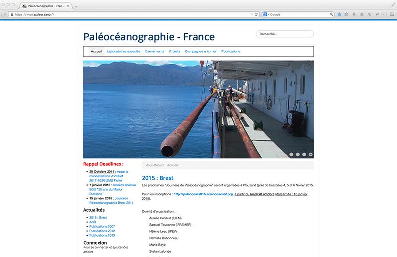 Ouverture du site web
