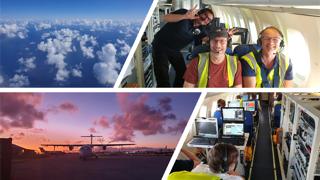 Campagne de mesures aéroportée intégrant des observations LIDAR de l'atmosphère à la Barbade