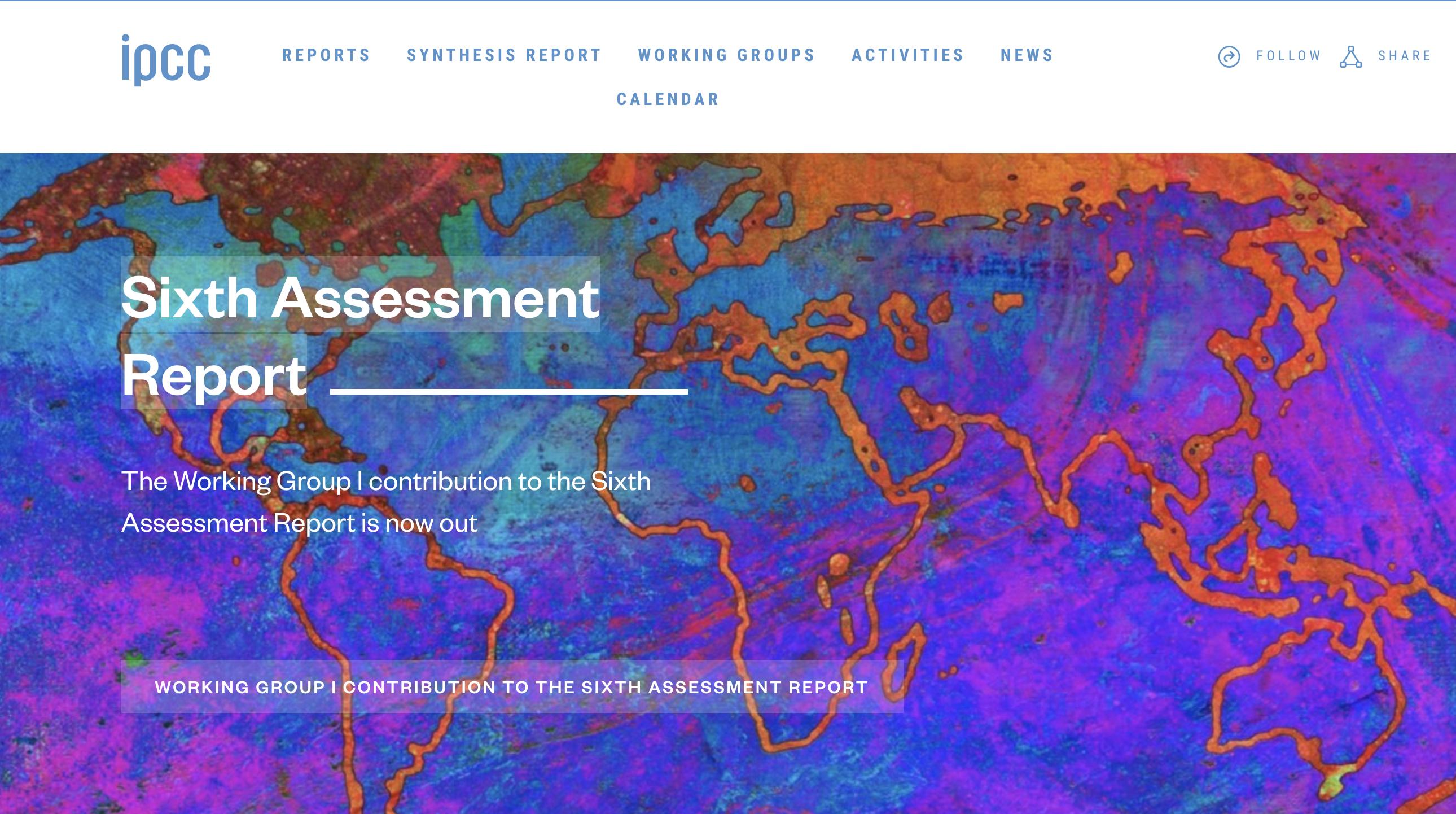 Le 6e rapport du GIEC sur les bases physiques du changement climatique