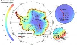 Surface studies of water isotopes in Antarctica for quantitative interpretation of deep ice core data