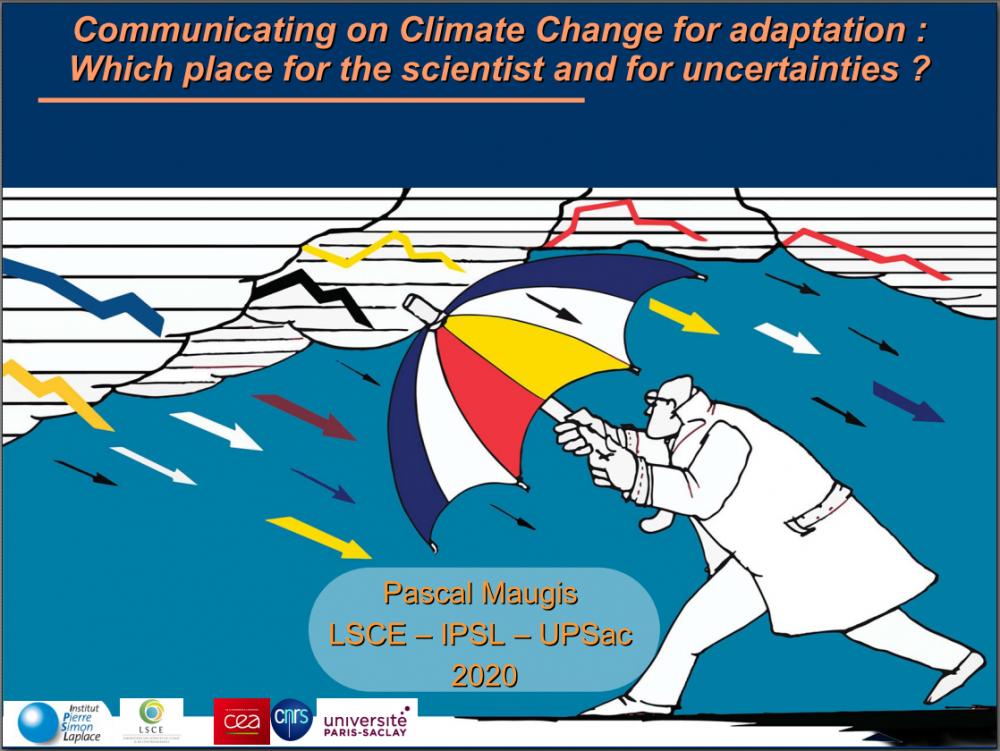 Le chercheur mis en position d'expert sur le changement climatique :  Quel arbitrage sur les incertitudes dans la communication ?