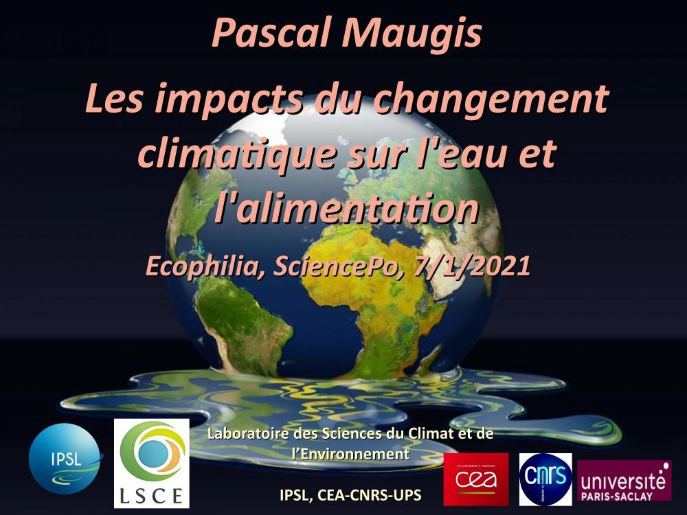 Les impacts du changement climatique sur l'eau et l'alimentation