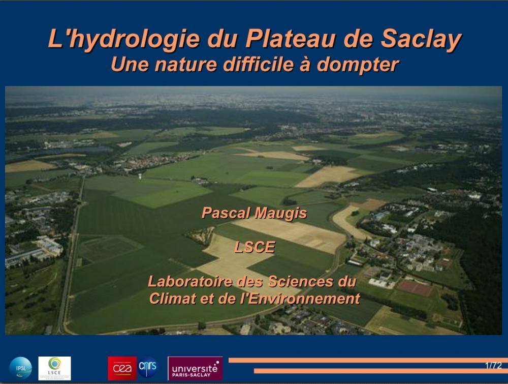 L'hydrologie du Plateau de Saclay, une nature difficile à dompter